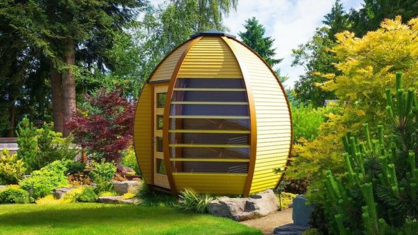 Crown Smart Pod House Painted Yellow
