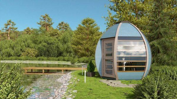 Crown Smart Pod House by a Lake