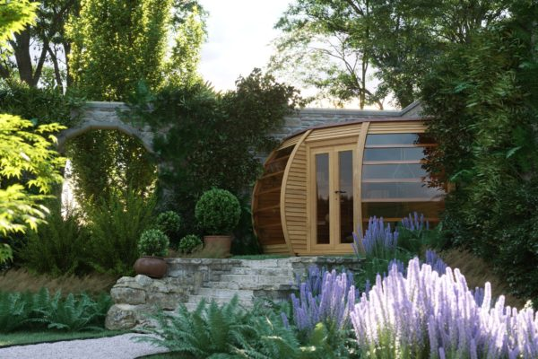 The Crown Compact - A Unique Garden House for the corner of your garden