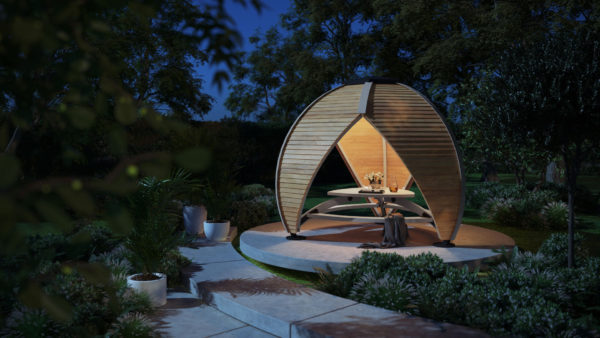 Crown Shield Garden Covered Seating - Illuminated