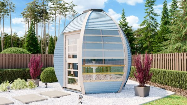 The Crown Smart Blue Garden Pod with Glass Sides