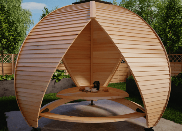 The Crown Shield Leisure - Close Up of Garden Seating Pod