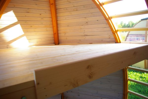 Second Floor View inside The Crown Elegant Pod Cabin