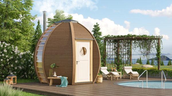 Picture of The Crown Elegant Outdoor Sauna Cabin