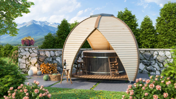 Hot Tub Shelter - The Crown Shield